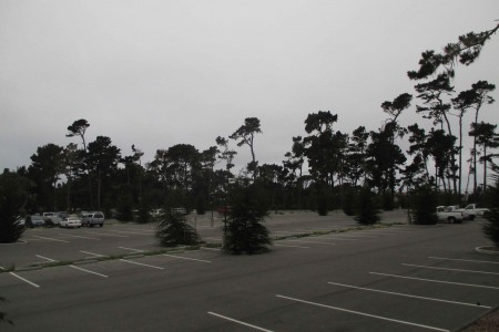 New parking lot at Spanish Bay Inn