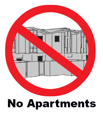 No apartments